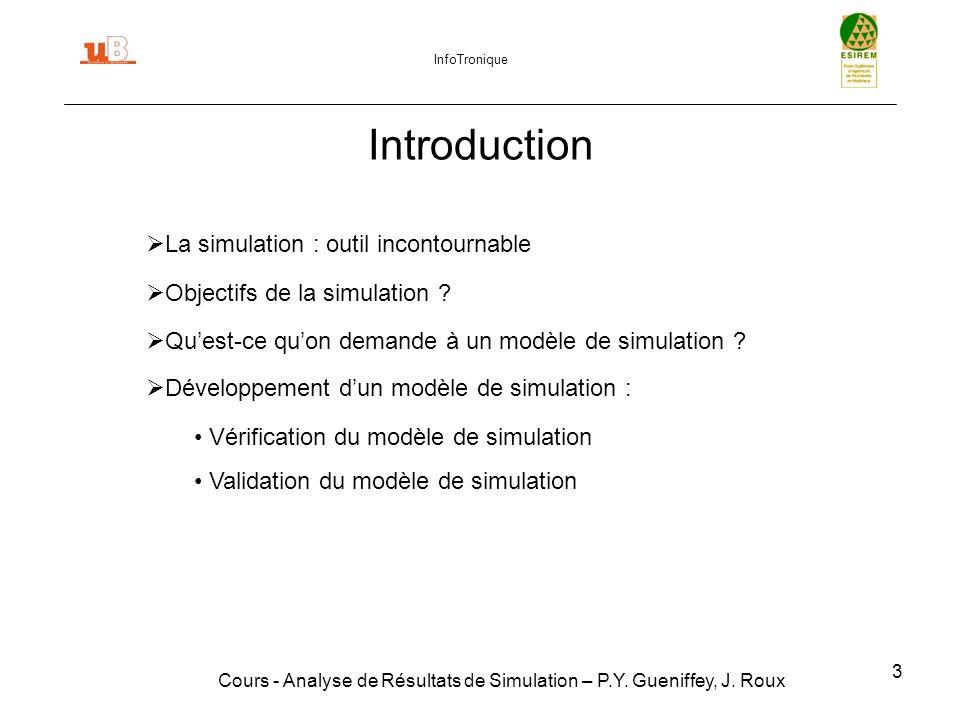 34 Suppression de létat transitoire Cours - Analyse de Résultats de Simulation – P.Y.
