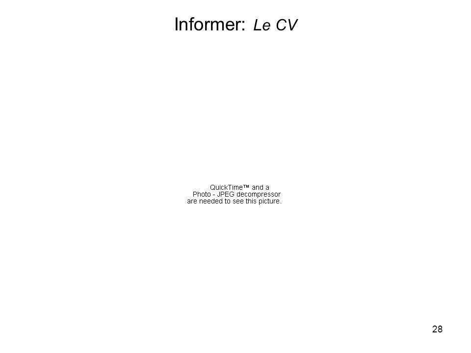28 Informer: Le CV