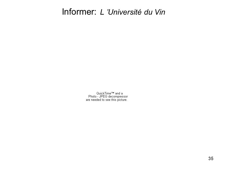 35 Informer: L Université du Vin