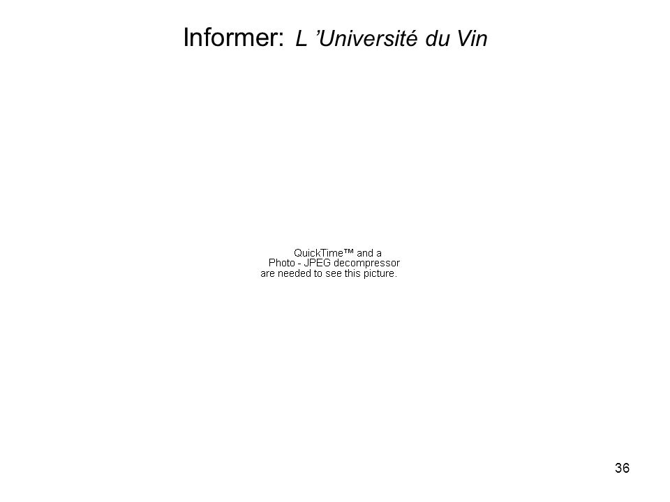 36 Informer: L Université du Vin