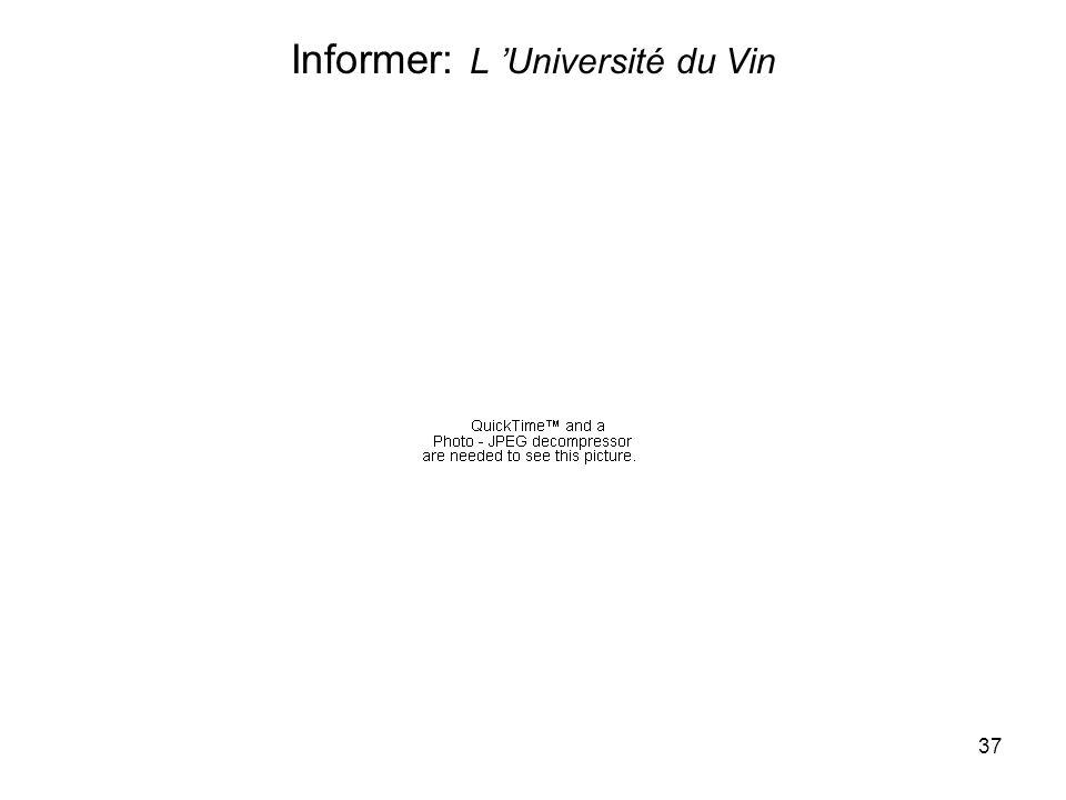37 Informer: L Université du Vin