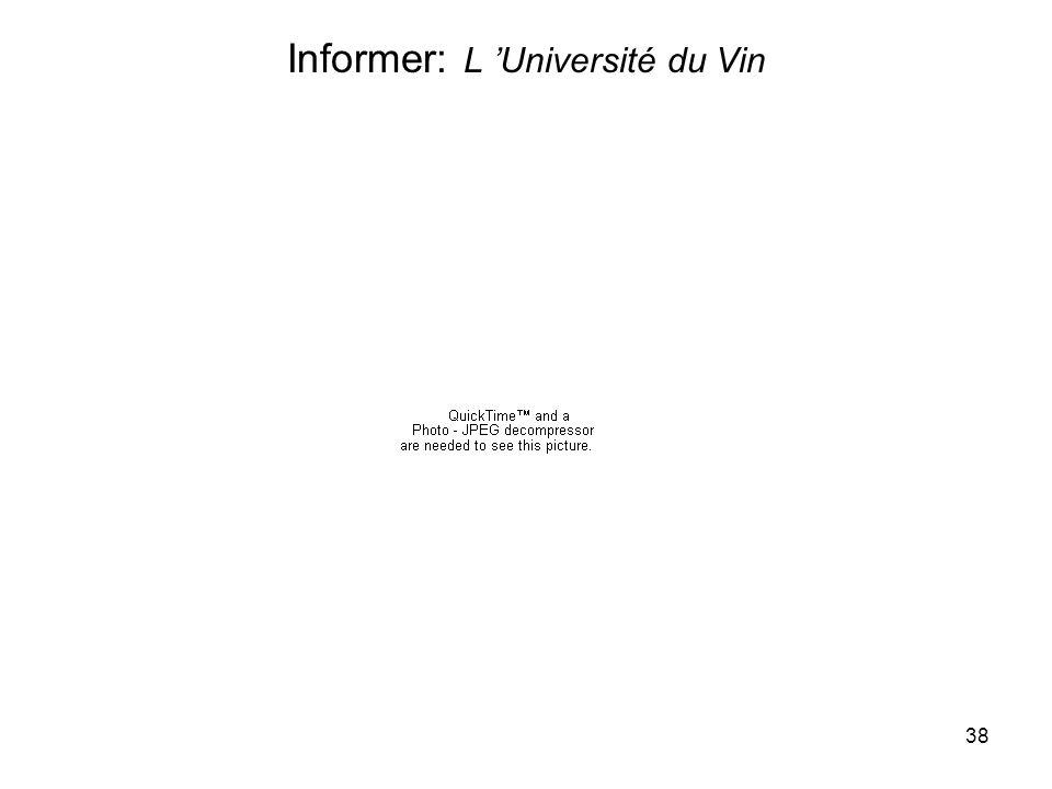 38 Informer: L Université du Vin