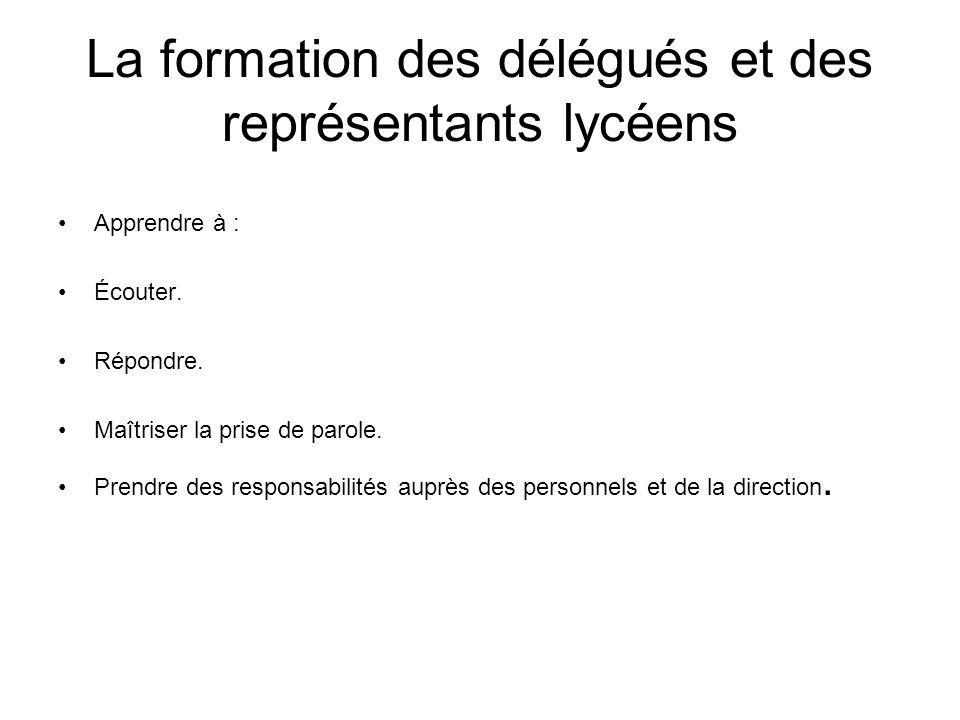 La valorisation de lengagement des lycéens(nes) Manque dinformation sur les instances lycéennes auprès des lycéens.