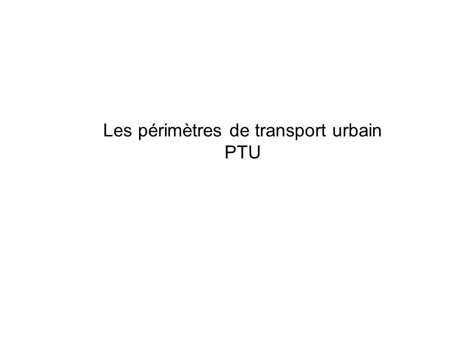 Les périmètres de transport urbain PTU