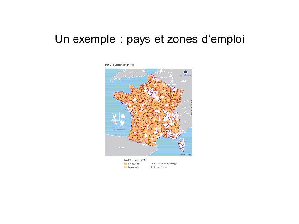 Un exemple : pays et zones demploi