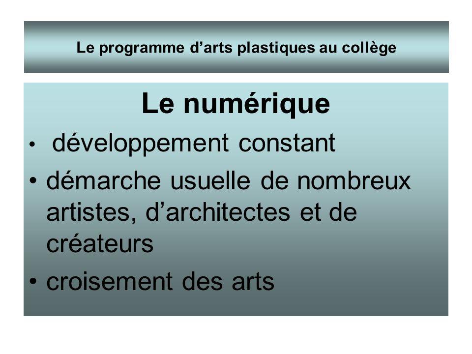 Le numérique développement constant démarche usuelle de nombreux artistes, darchitectes et de créateurs croisement des arts