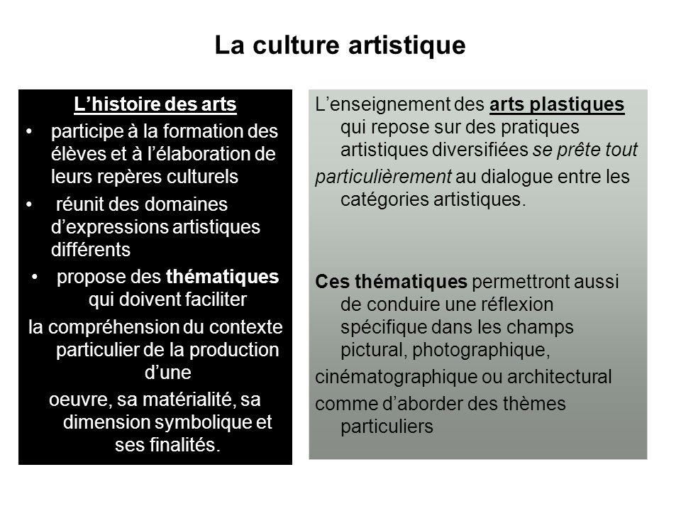 La culture artistique Lhistoire des arts participe à la formation des élèves et à lélaboration de leurs repères culturels réunit des domaines dexpress