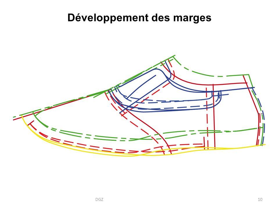 Développement des marges DGZ10