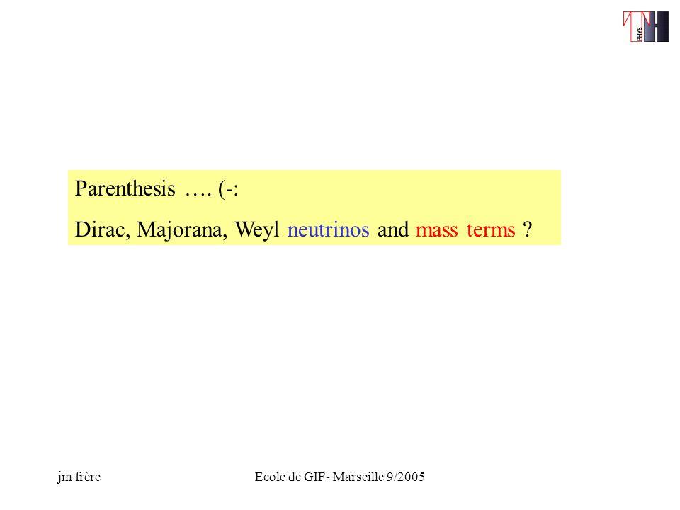 jm frèreEcole de GIF- Marseille 9/2005 Parenthesis ….