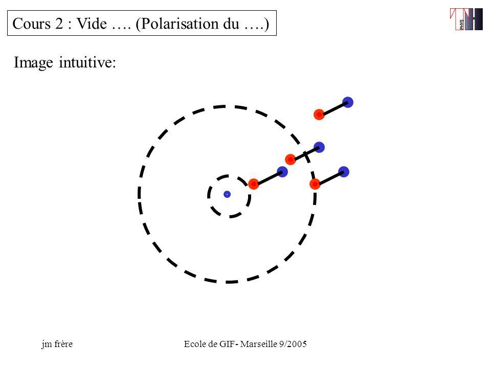 jm frèreEcole de GIF- Marseille 9/2005 Cours 2 : Vide …. (Polarisation du ….) Image intuitive: