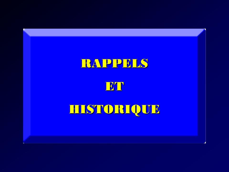 RAPPELS ET HISTORIQUE RAPPELS ET HISTORIQUE