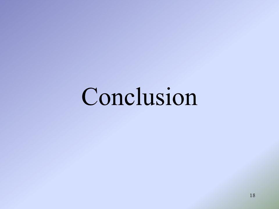 18 Conclusion