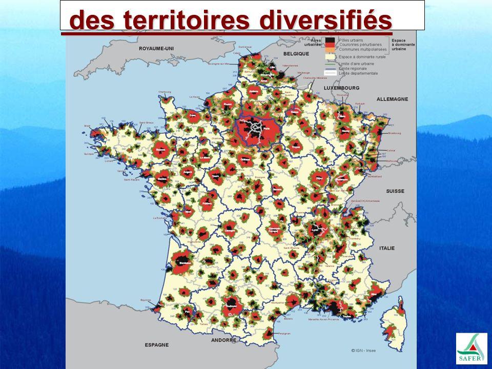 des territoires diversifiés des territoires diversifiés