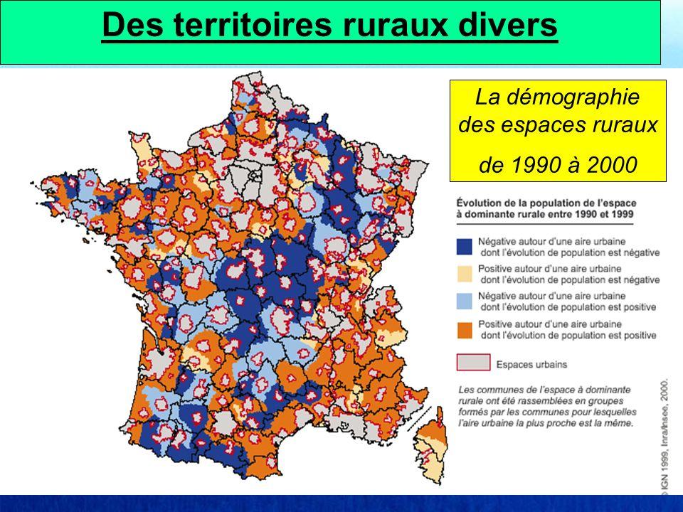 La démographie des espaces ruraux de 1990 à 2000 Des territoires ruraux divers