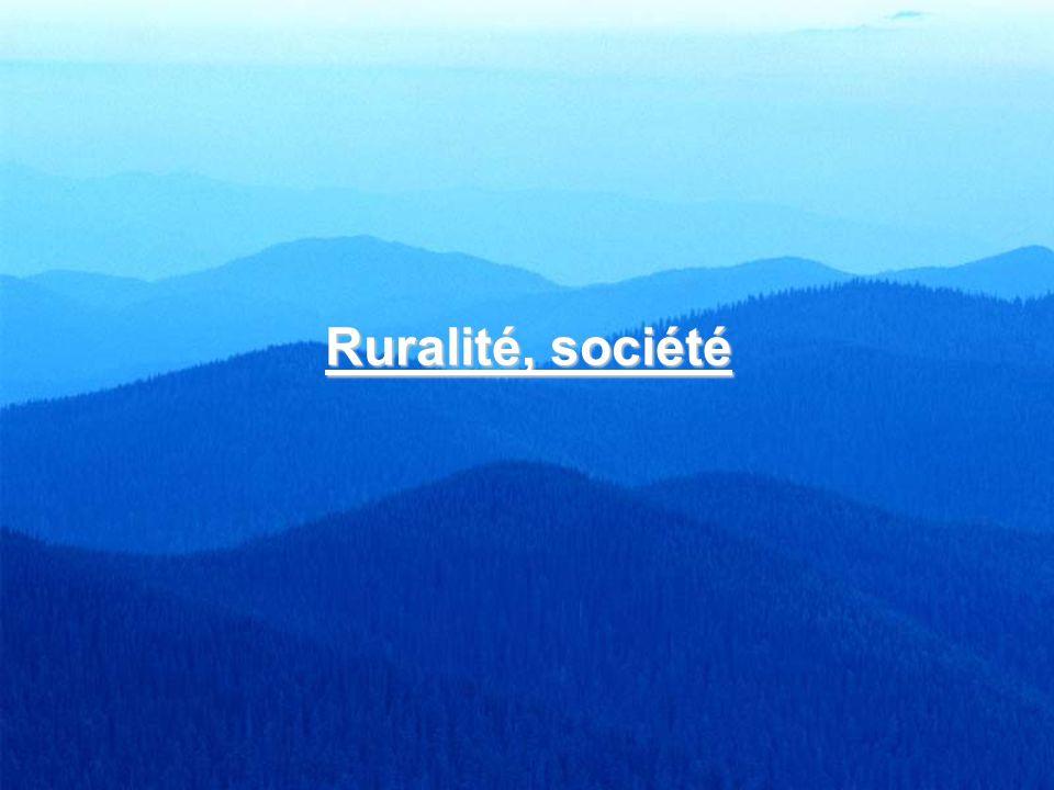 Ruralité, société