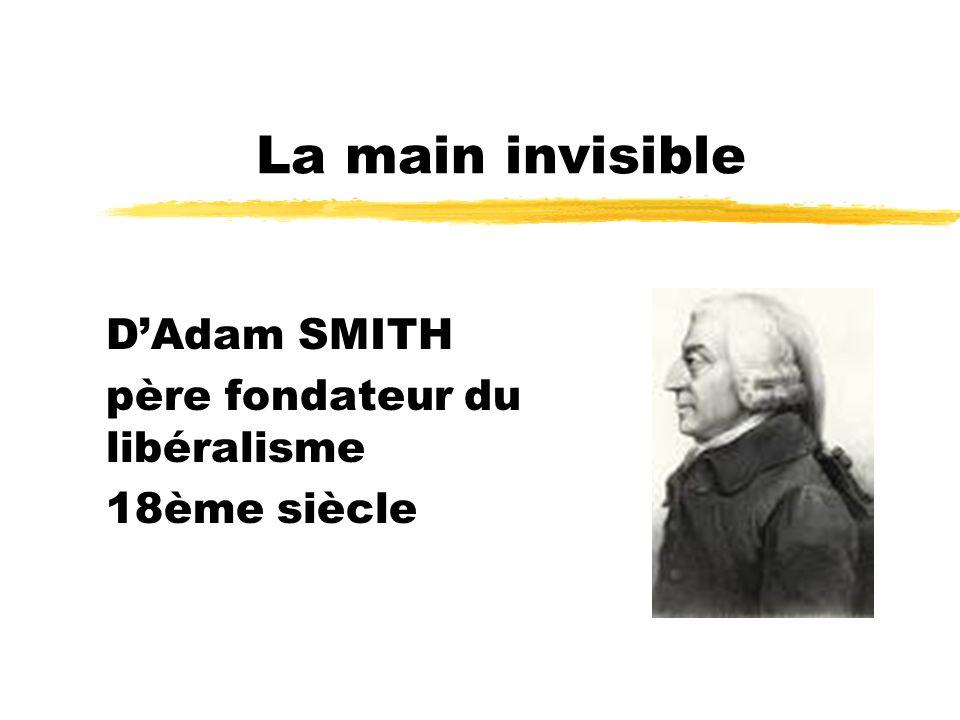 La main invisible DAdam SMITH père fondateur du libéralisme 18ème siècle