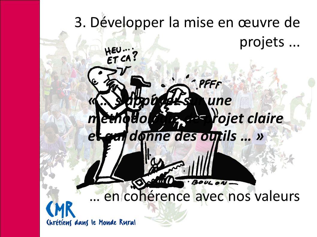 3.Développer la mise en œuvre de projets...
