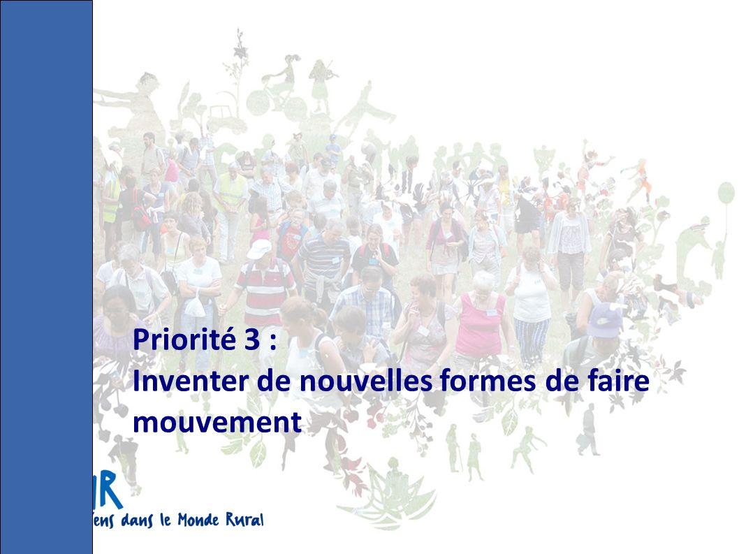 Priorité 3 : Inventer de nouvelles formes de faire mouvement