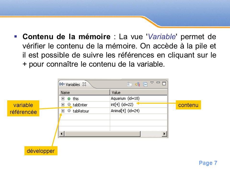 Page 8 Ex : accès au contenu dun tableau ou dune ArrayList.
