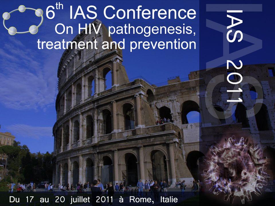 le meilleur …de lIAS 2011 IRIS et tuberculose : essai SAPIT Incidence IRIS selon la date dinitiation du traitement ARV –Initiation précoce (4 1 ères semaines)20 % –Initiation différée (entre M2 et M3)8,4 % –Initiation retardée (fin traitement tuberculose)8,9 % IRIS associé à taux de CD4 bas (médiane 91/mm 3 si IRIS vs 155 si pas dIRIS) et CV élevée (5,5 vs 5 log 10 c/ml) –Incidence IRIS 3 fois plus élevée dans le groupe initiation précoce si CD4 < 50/mm 3 IRIS plus sévère dans le groupe initiation précoce Mortalité de IRIS = 2,5 % Naidoo K, IAS 2011, Abs.