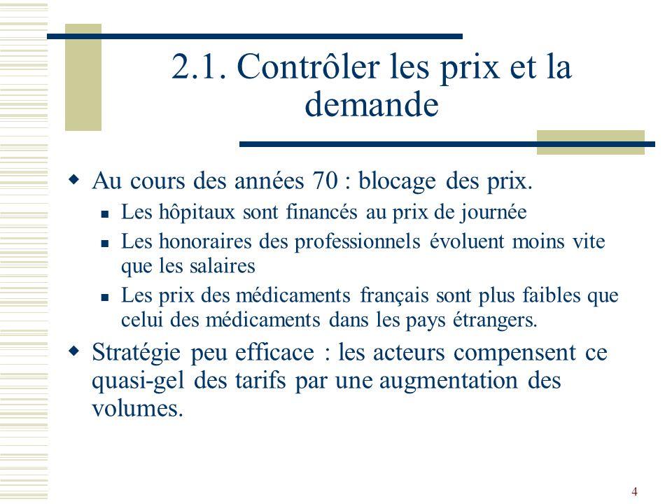 15 2.2.la maîtrise négociée Evolution de lactivité des hôpitaux et des cliniques des 1970 à 1996.