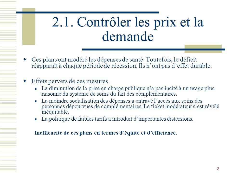 19 2.2.La maîtrise négociée Les Références Médicales Opposables.