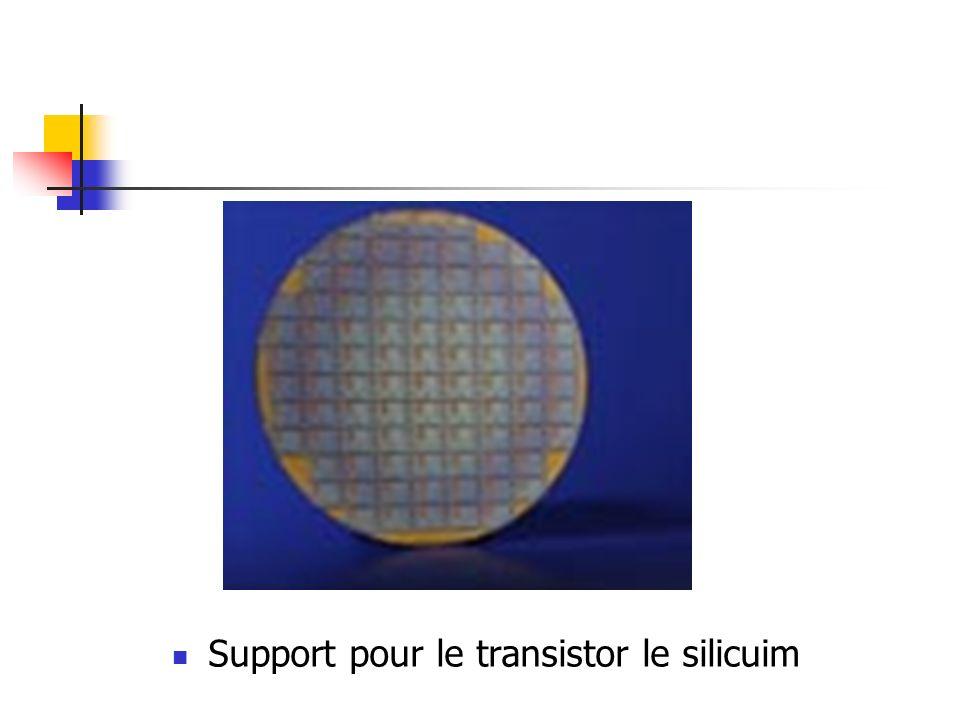 Support pour le transistor le silicuim