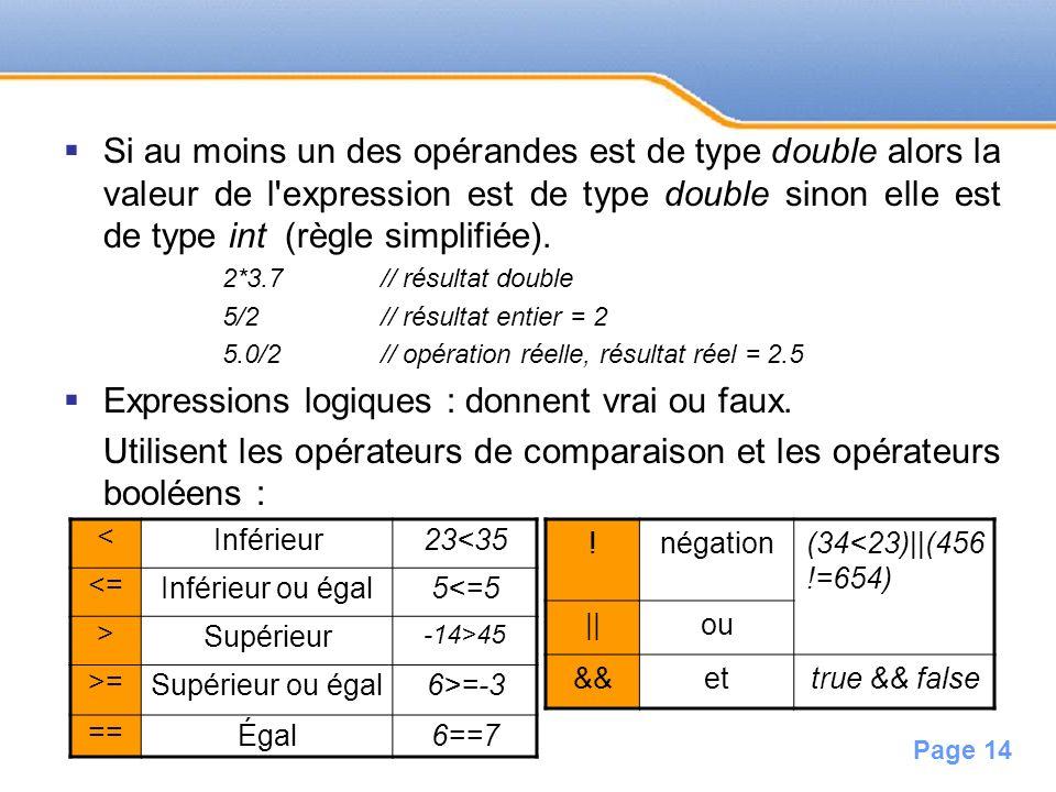 Page 15 Sans parenthèses : évaluation selon les priorités décroissantes suivantes : 1.