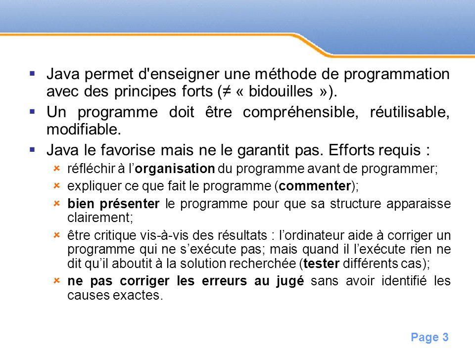 Page 4 Valeur Information réduite au maximum (non représentable sous une forme plus concise).