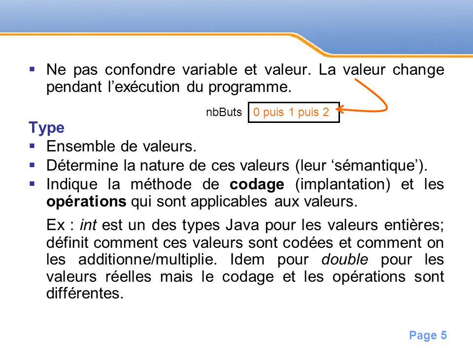 Page 6 Regroupe des valeurs simples directement codées en mémoire comme les valeurs numériques entières ou réelles.