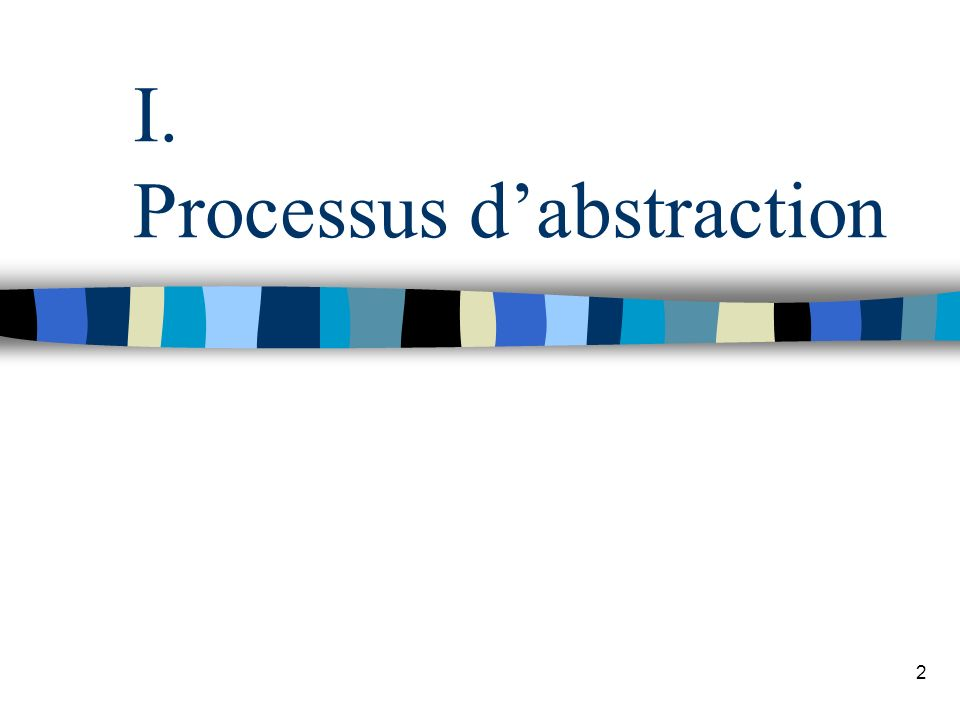 2 I. Processus dabstraction
