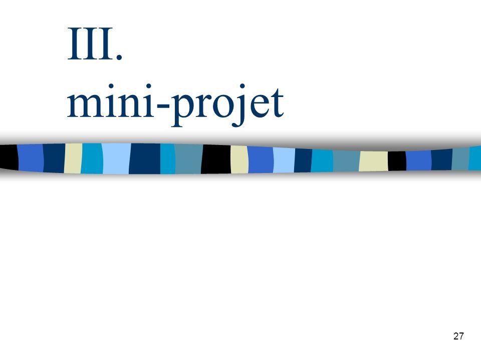 27 III. mini-projet