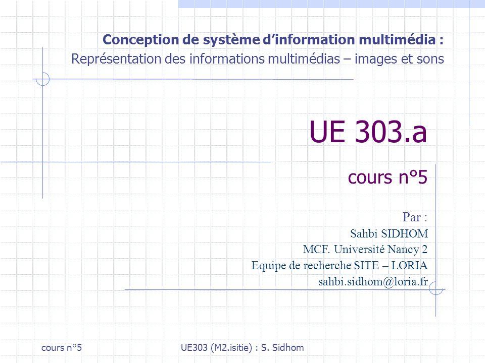 cours n°5UE303 (M2.isitie) : S.