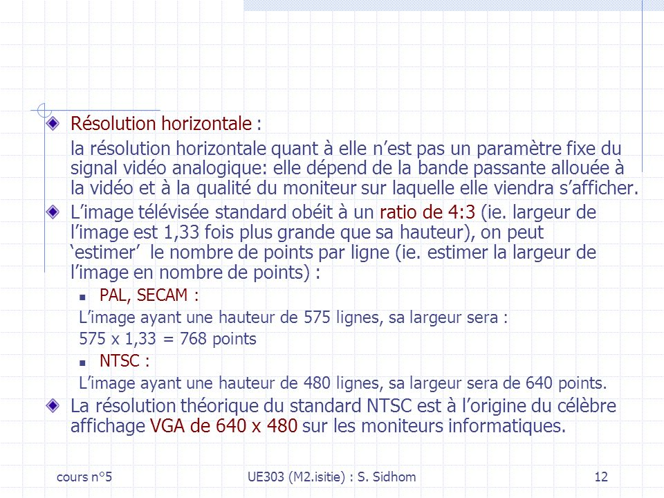 cours n°5UE303 (M2.isitie) : S.