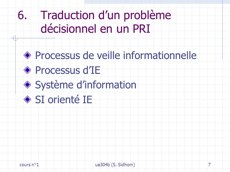 cours n°1ue304b (S. Sidhom)7 6.