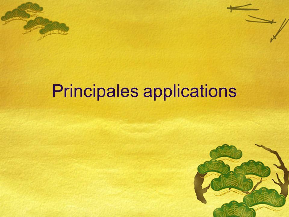 Principales applications