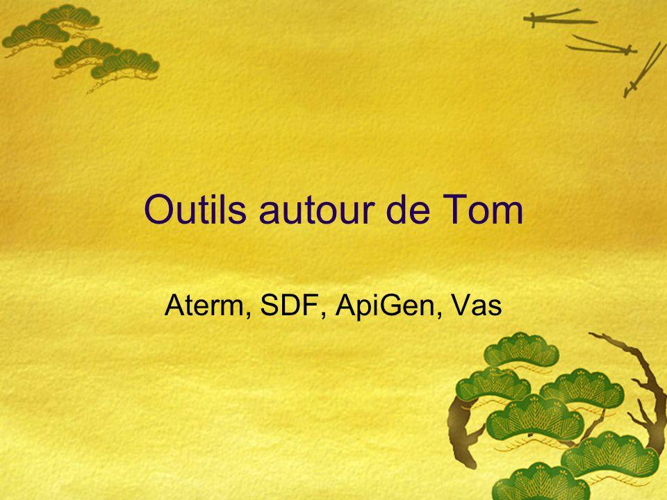 Outils autour de Tom Aterm, SDF, ApiGen, Vas