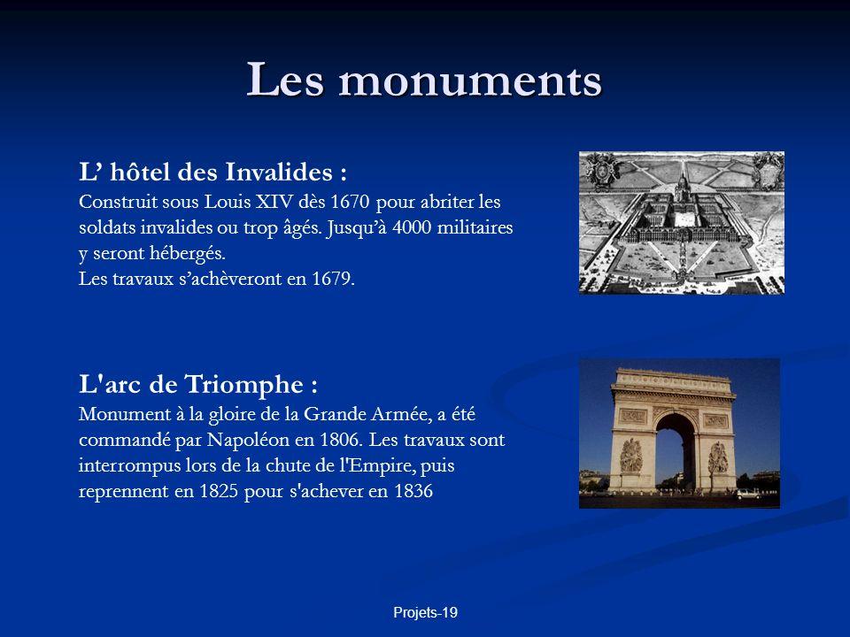 Projets-19 Les monuments Lhôtel de ville : Il est construit au 16è puis au 17è siècle.