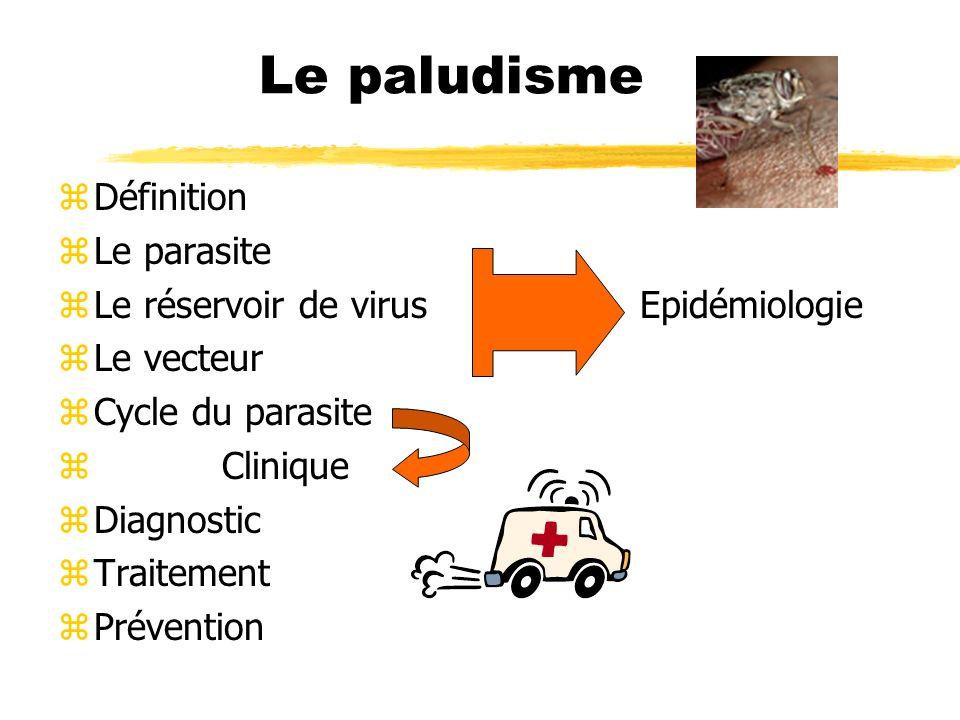 zDéfinition zLe parasite zLe réservoir de virus Epidémiologie zLe vecteur zCycle du parasite z Clinique zDiagnostic zTraitement zPrévention
