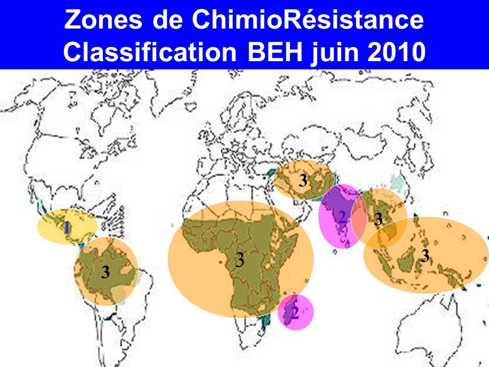 Zones de ChimioRésistance Classification BEH juin 2010 3 2 3 1 3 2 3 3