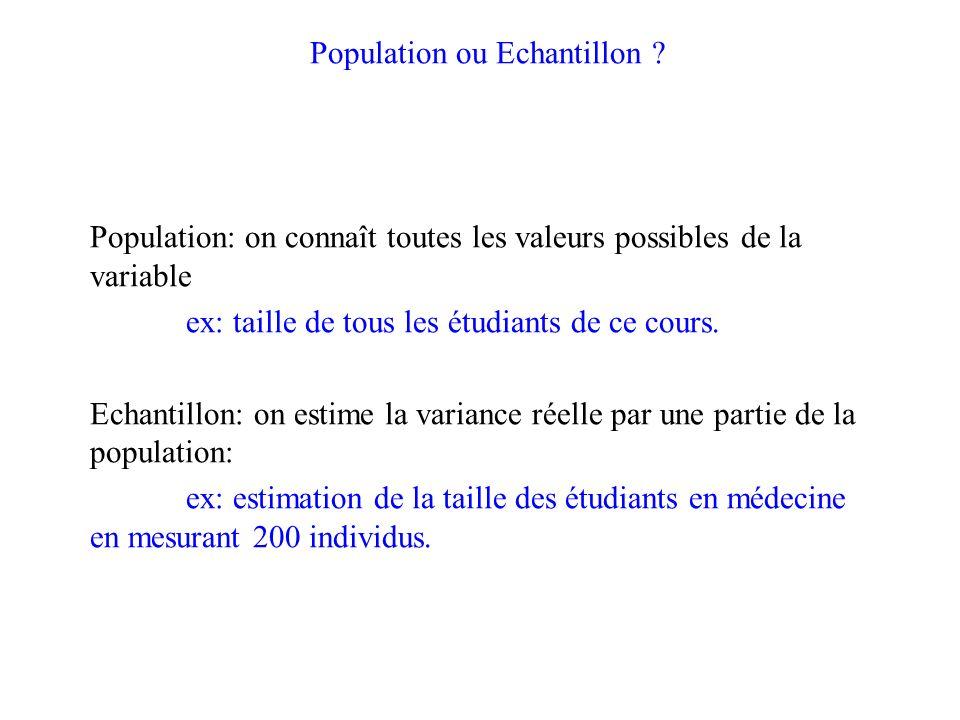 Population ou Echantillon .