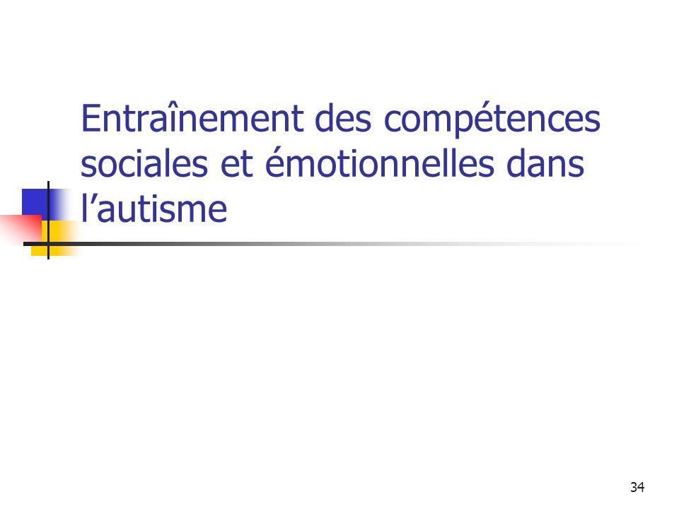 34 Entraînement des compétences sociales et émotionnelles dans lautisme