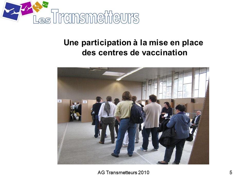 AG Transmetteurs 20105 Une participation à la mise en place des centres de vaccination