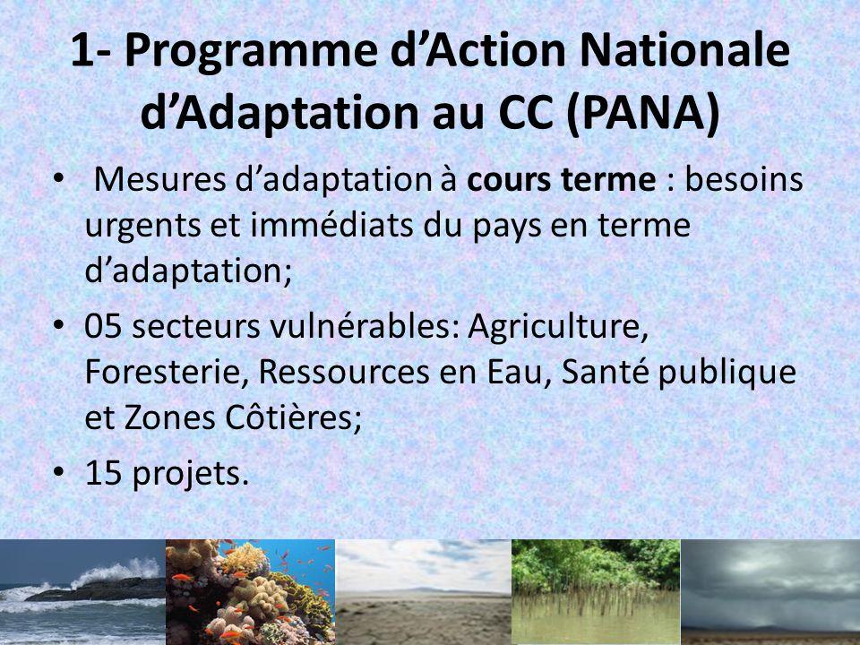 V.Réalisations Ratification de la CCNUCC (1998) et adhésion au Protocole de Kyoto (2003); Evaluations des vulnérabilités lors de lélaboration de Commu