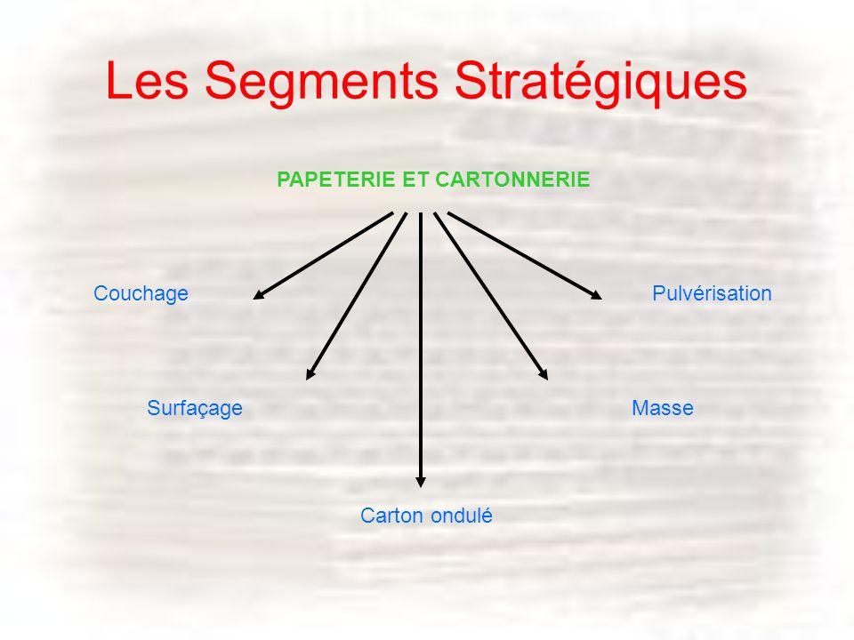 Les Segments Stratégiques Surfaçage Couchage Carton ondulé Pulvérisation Masse PAPETERIE ET CARTONNERIE