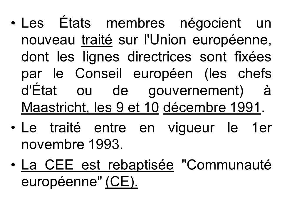 Les États membres négocient un nouveau traité sur l'Union européenne, dont les lignes directrices sont fixées par le Conseil européen (les chefs d'Éta