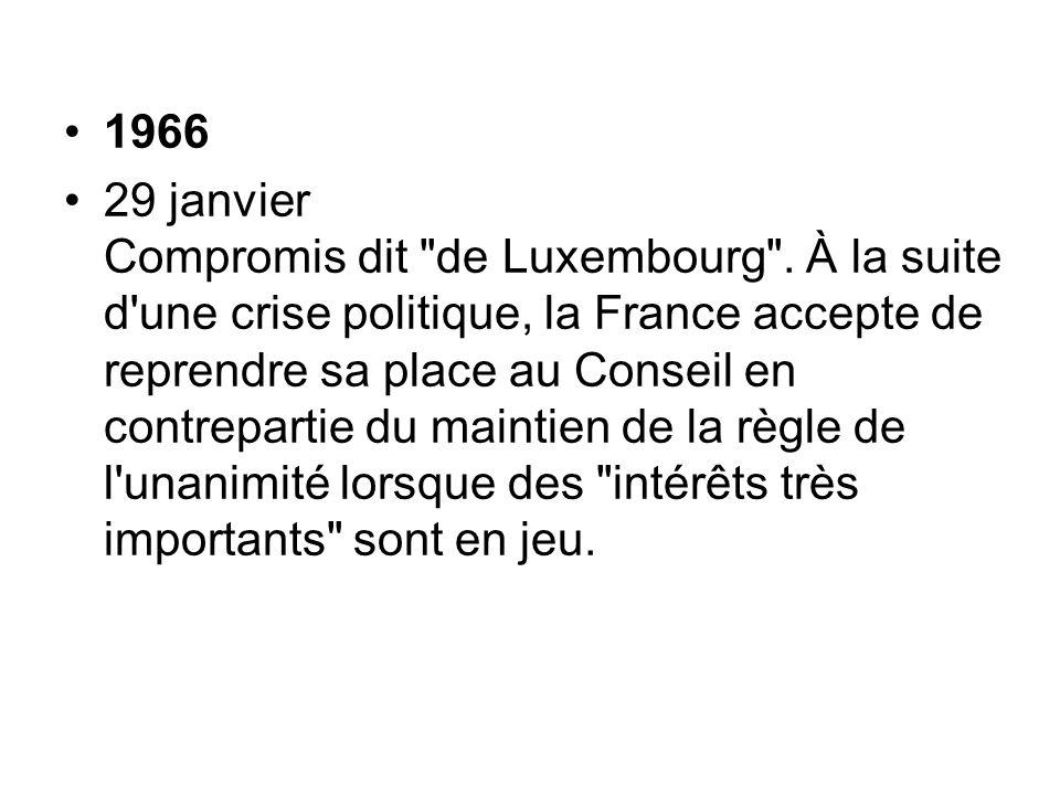 1966 29 janvier Compromis dit