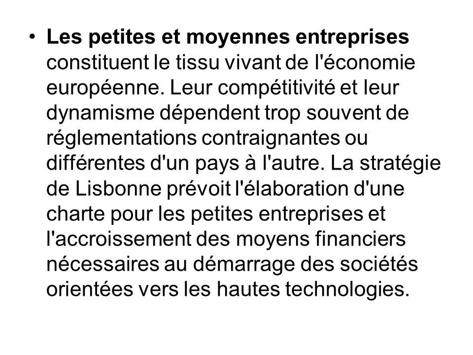 Les petites et moyennes entreprises constituent le tissu vivant de l'économie européenne. Leur compétitivité et leur dynamisme dépendent trop souvent