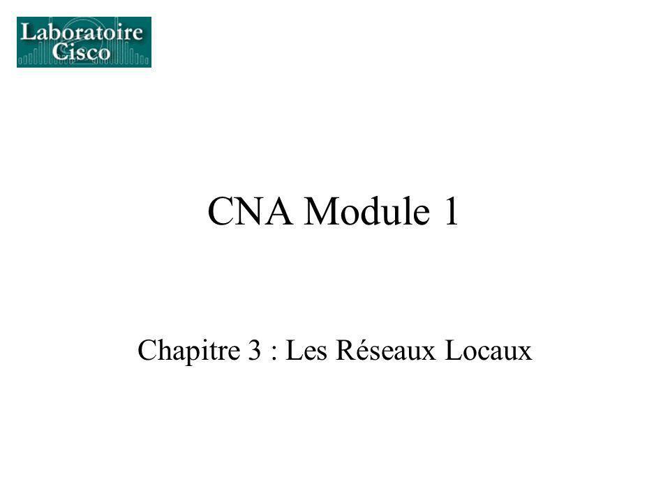 CNA Module 1 Chapitre 3 : Les Réseaux Locaux