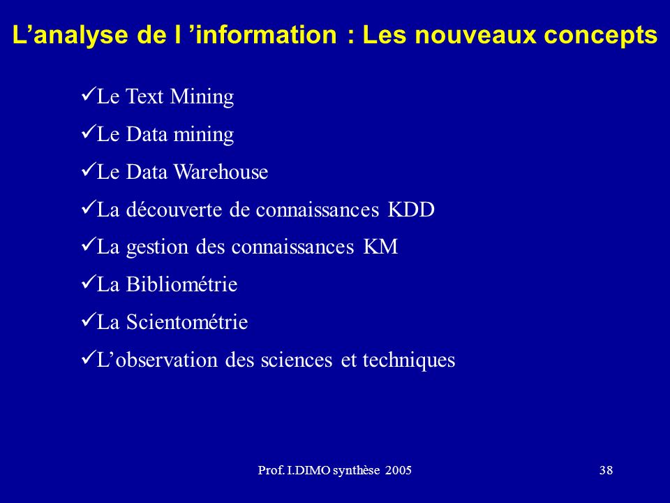 Modèles danalyse de linformation Source: Society of Competitive Intelligence Professionals